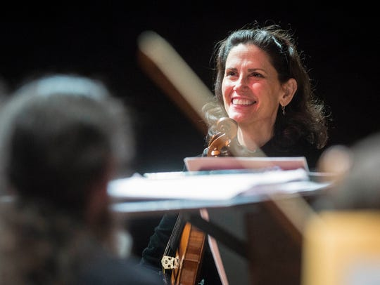 Noelle Tretick Gosling plays with the Muncie Symphony