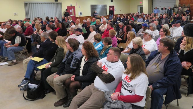 A crowd of about 200 attended the Town of Fenton Zoning Board of Appeals meeting Tuesday, Jan 23, 2018, as the members discussed the NG Advantage project.