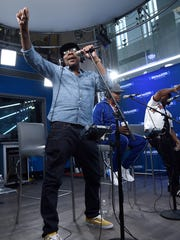 Bobby Brown of RBRM performs on SiriusXM's Heart & Soul Channel, Wednesday, in New York.