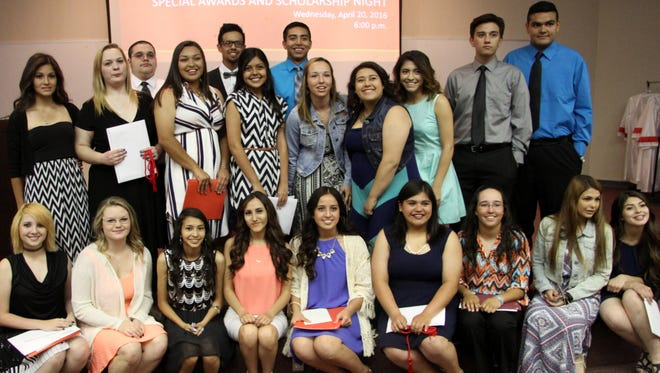 Outstanding Loving High School seniors were honored at Wednesday's ceremony.