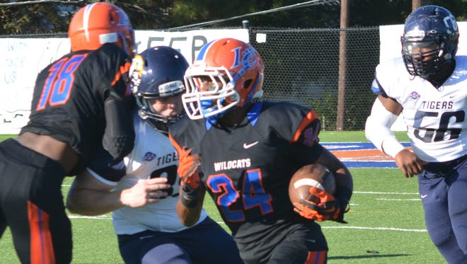 Ira Jewitt of Louisiana College (24) is shown returning a punt for a touchdown against ETBU this past season.