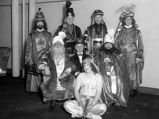 "Officers of the Shriners' ""Moslem Temple"" in Detroit"