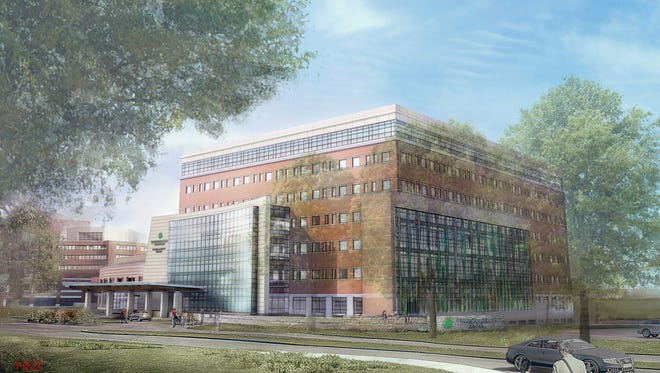 Rendering of the proposed eight-story Women and Children's Building at Christiana Hospital