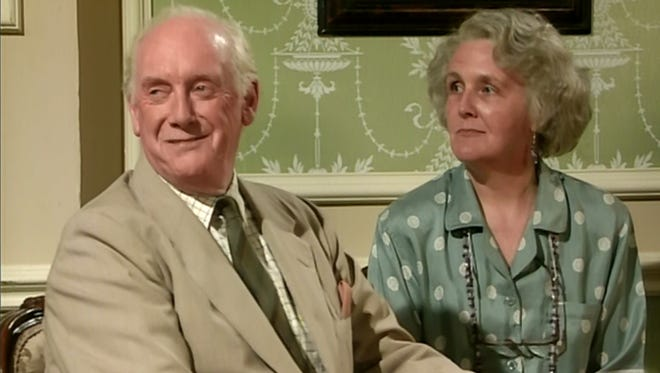 On the left Graham Crowden and the right Stephanie Cole in 'Waiting for God'.