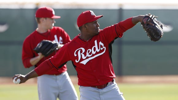 Reds pitcher Carlos Contreras throws during spring training.