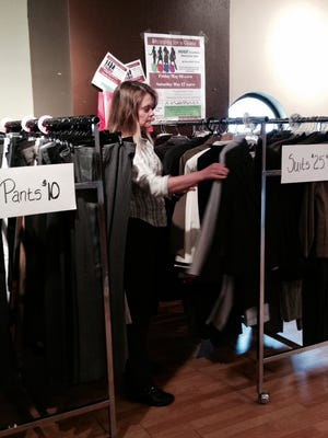 Preparations are underway for the Dress for Success sale to be held Friday and Saturday at the Poughkeepsie Plaza mall.