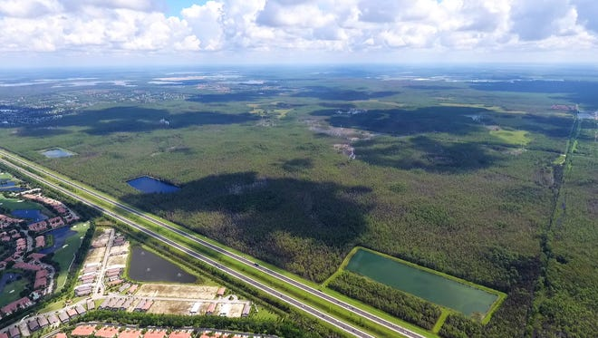 An aerial view of Edison Farms, the 3,900-acre conservation site that Lee County has agreed to buy for $42.4 million and preserve.