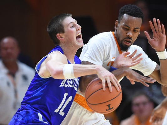 UNC Asheville Tennessee Basketball
