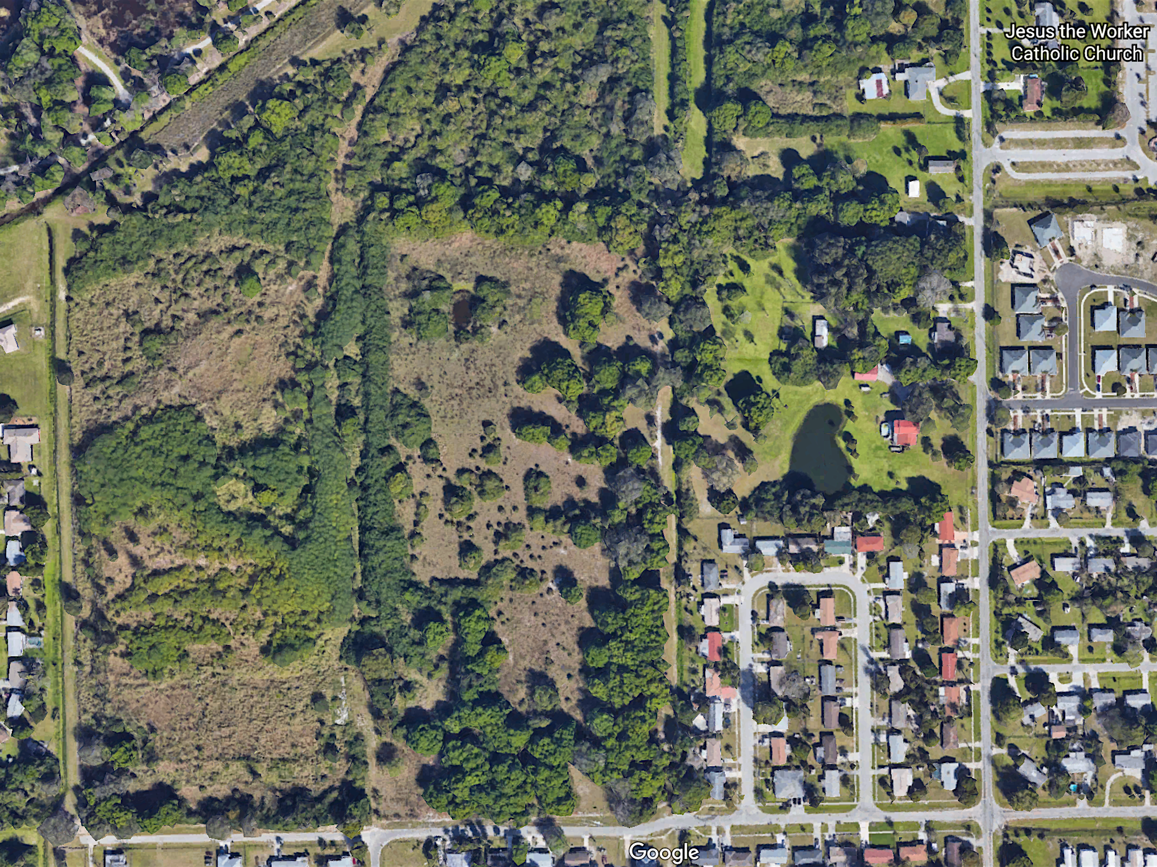 Vacant land owned by the Housing Authority of the City