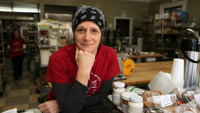 Susan O'Keefe, from Baked by Susan, is pictured in her bake shop on Grand Street in Croton-on-Hudson, Jan. 13, 2016.
