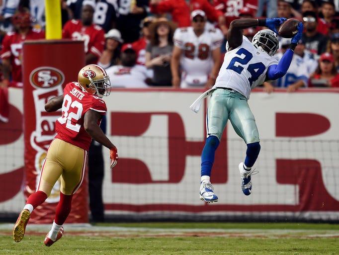 Dallas cowboys cornerback morris claiborne 24 intercepts