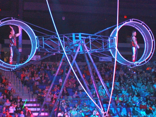 The Wheel of Destiny, one of many acts at the Shrine Circus, which will be in Sheboygan May 30.