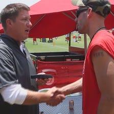 Marine veteran Lance Corporal Josh Frey and General Manager Jason Licht