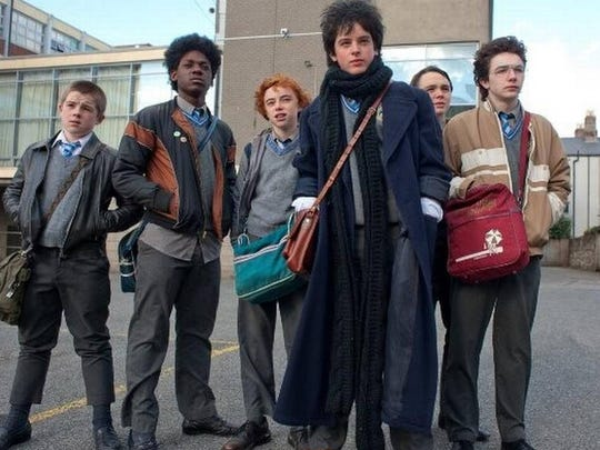 "A scene from the film ""Sing Street."""