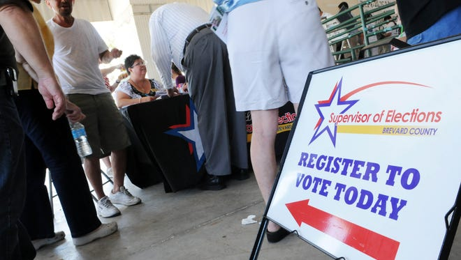 One school was visited solely for voter registration in time for the Feb. 16 primary cut off date. Eight of Brevard's 16 high schools have been visited for various events in the past year.