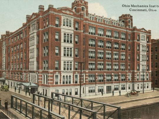 A postcard shows the the Ohio Mechanics Institute's new home in 1911.
