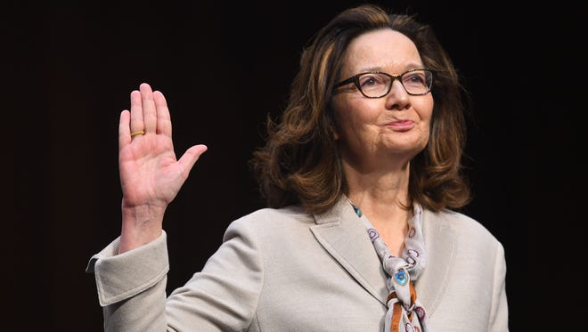 Gina Haspel testifies in front of the U.S. Senate Select Committee on Intelligence during her confirmation hearing in Washington.