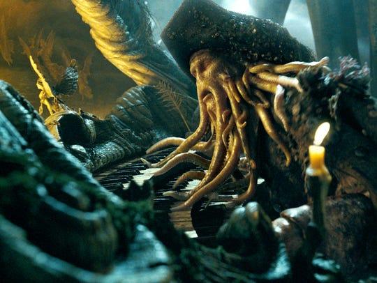 Bill Nighy as Davy Jones.