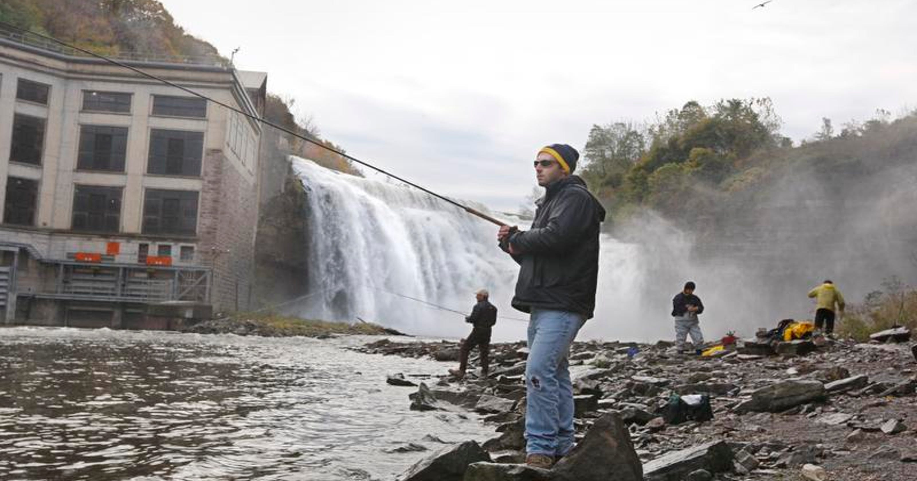 Rochester's Lower Falls an angler's paradise