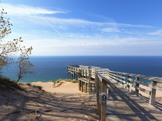 Authorities say they have reopened parts of northern Michigan's Sleeping Bear Dunes National Lakeshore.