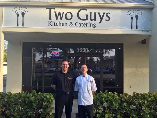 Brothers Peter, left, and Larry Falisi are the two guys behind Two Guys Kitchen & Catering in East Naples.