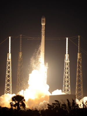 A SpaceX Falcon 9 rocket lifts off Dec. 3, 2013, from Cape Canaveral Air Force Station.