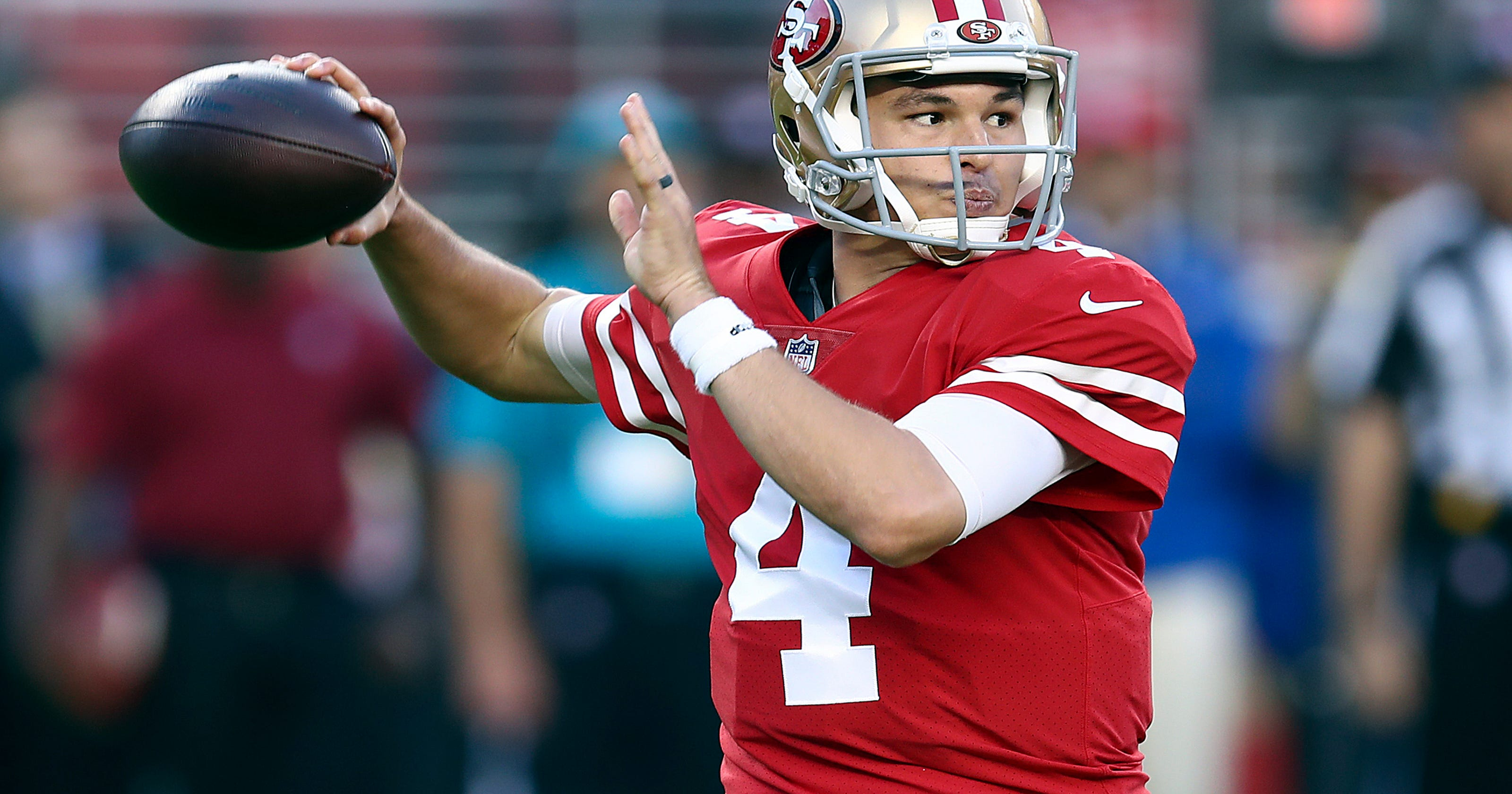 aaf414f57 QB Nick Mullens to get 2nd start for 49ers