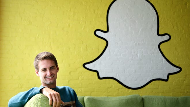 Snapchat Chief Executive Officer Evan Spiegel. Snap Inc. is listing the company's valuation at up to $22 billion as it prepares for the tech industry's biggest initial public offering in years. ,