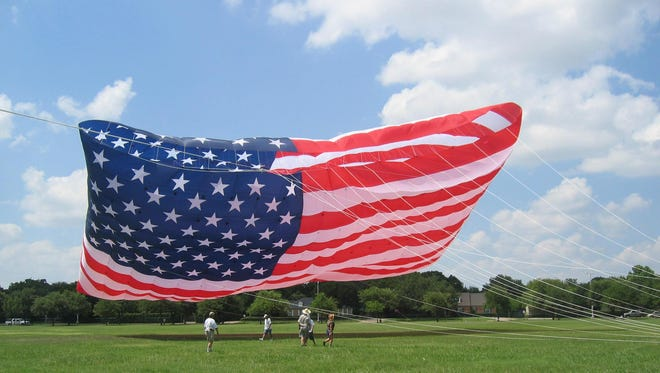 The Mega Flag will be on display on Friday, June 26, prior to the Lincoln City Summer Kite Festival.