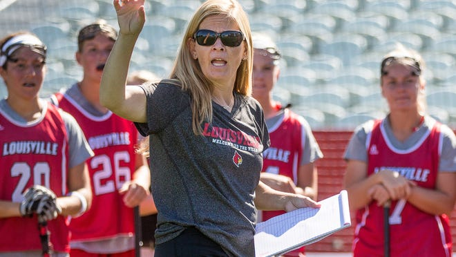 University of Louisville head coach Kellie Young started the women's lacrosse program seven years ago.