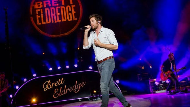 Opener Brett Eldredge performs at Darius Rucker's Southern Style Tour 2015, which opened the season of 2015 PNC Bank Arts Center in Holmdel.