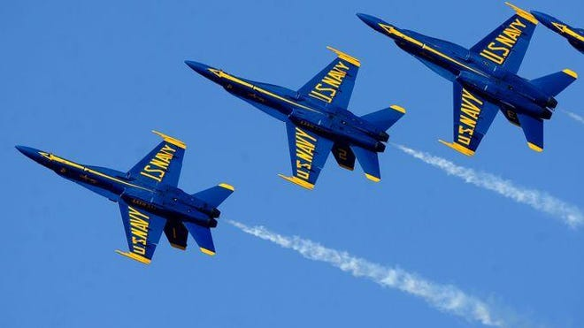 The Pensacola-based Blue Angels will perform an honorary flyover of the Spanish Navy's tall ship Juan Sebastian de Elcano, which leaves today.