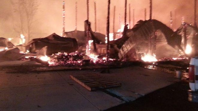 The Full Throttle Saloon in Sturgis was destroyed by a fire early Tuesday, Sept. 8, 2015.