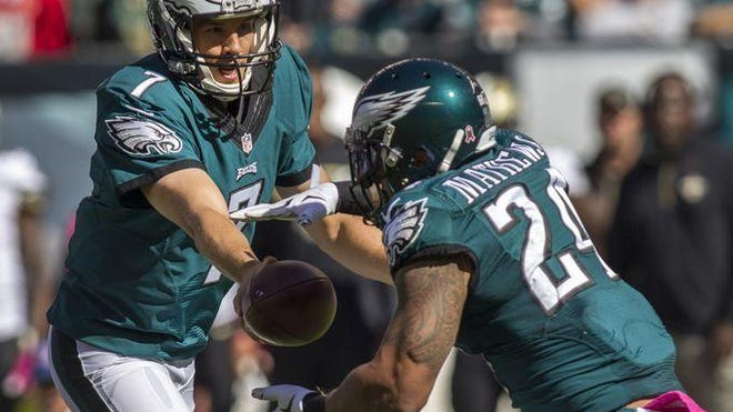 Running back Ryan Mathews is expected to miss his third straight game with a concussion when the Eagles play New England on Sunday.