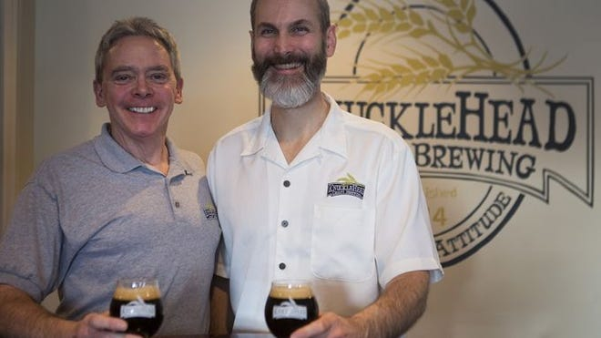Len Dummer and George Cline of Knucklehead Craft Brewing (D&C photo by Lauren Petracca)
