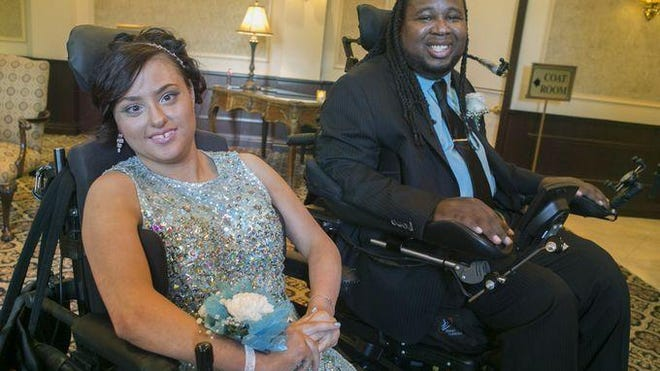 Former Rutgers football star Eric LeGrand and Gianna Brunini went to the Hanover Park High School prom together.