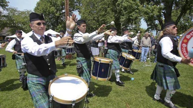 Bagpipe bands comprised of musicians from New York and Pennsylvania played at the 2015 edition of the Ithaca Celtic Festival.