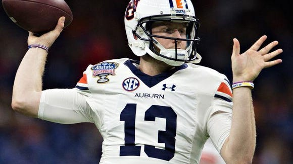 Auburn quarterback Sean White got hurt in the second quarter of the Sugar Bowl, which hampered the Tigers' offense.