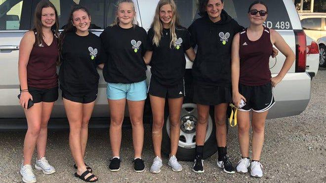 The Hays High girls tennis team took fourth at the Cimarron on Thursday.