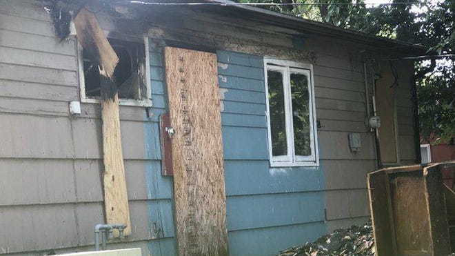 Fire did an estimated $16,000 damage Saturday morning at this vacant house in southeast Topeka.