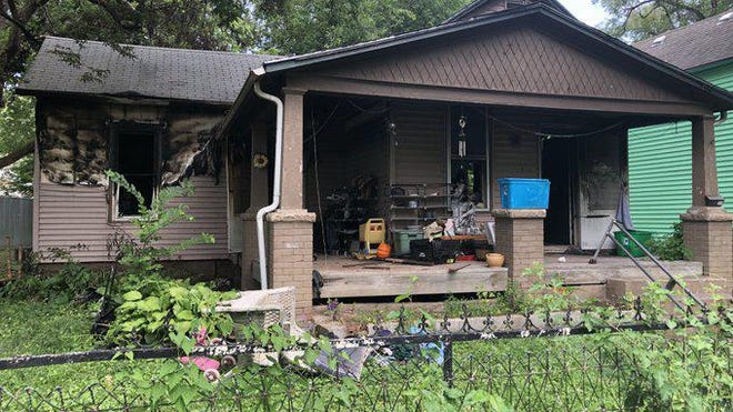 Fire destroyed this house Friday morning at 504 N.E. Emmett in northeast Topeka's Oakland community.