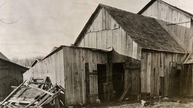 Maple Hill farmer Rufe King was convicted in November 1920 of killing a man whose skeletal remains were found in the shed on the left.