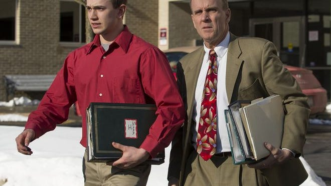 Cal Harris, right, is accused of killing his estranged wife in 2001 in Tioga County.