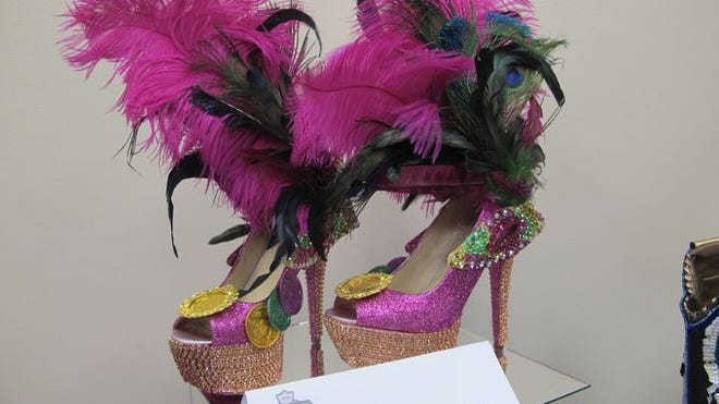Miss Louisiana's shoes for the annual 'Show Us Your Shoes' parade were anything but flat.