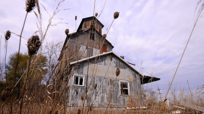 The abandoned Central Bean and Grain elevator in Vickeryville is shown Oct. 28, 2014.