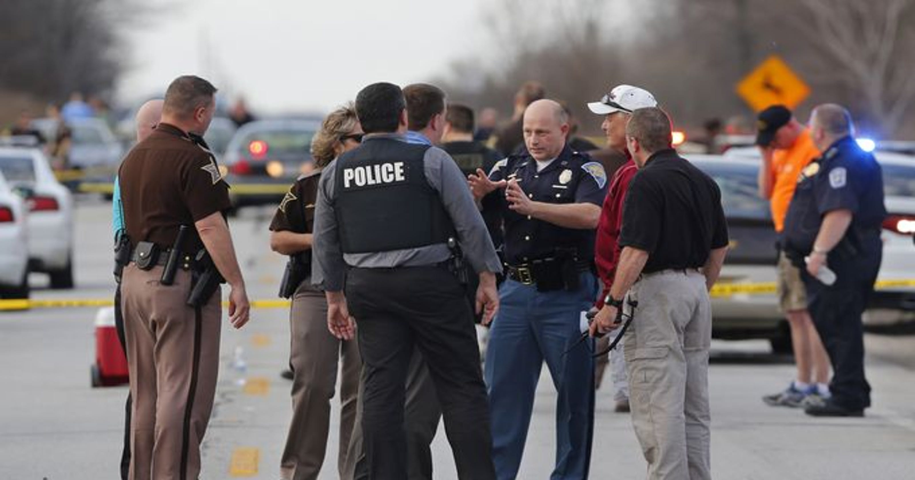 Hostage recovering after chase