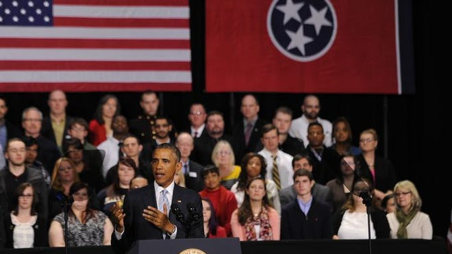President Obama proposes two years of free community college for American workers during a visit to Pellissippi State Community College in Knoxville on Jan. 9, 2015. President Obama proposes two years of free community college for American workers at Pellissippi State Community College in Knoxville on Jan. 9, 2015.