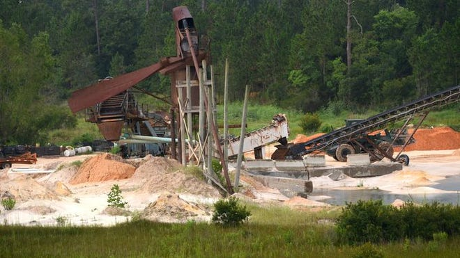 Borrow pits in the Wedgewood area of Escambia County are being blamed for air-quality issues.