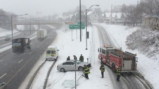 An accident in December 2014 on Interstate 490 in Rochester.