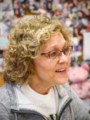 Rocori Environmentalist Club adviser Barb Omann talks about how the organization has grown over the years Friday, April 13, in Cold Spring.